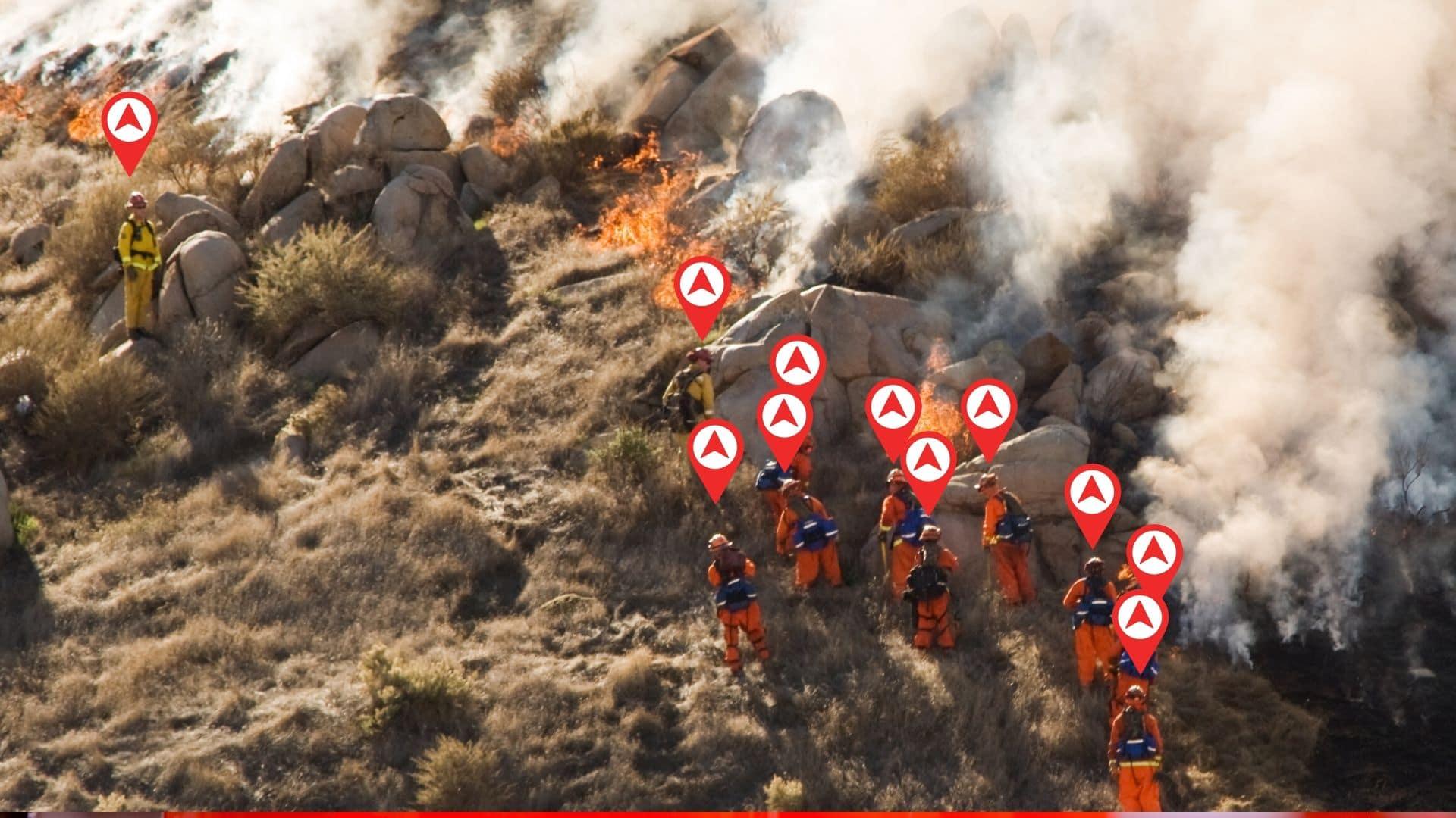 localización de bomberos