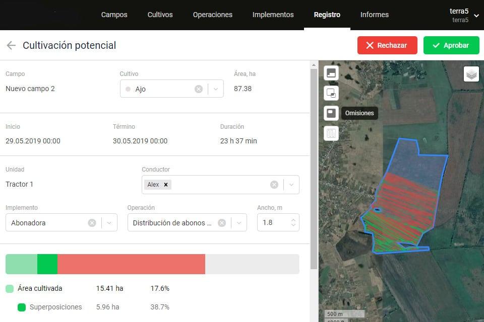 gestión de cultivos, localización en areas cultivadas captura de imagen 4
